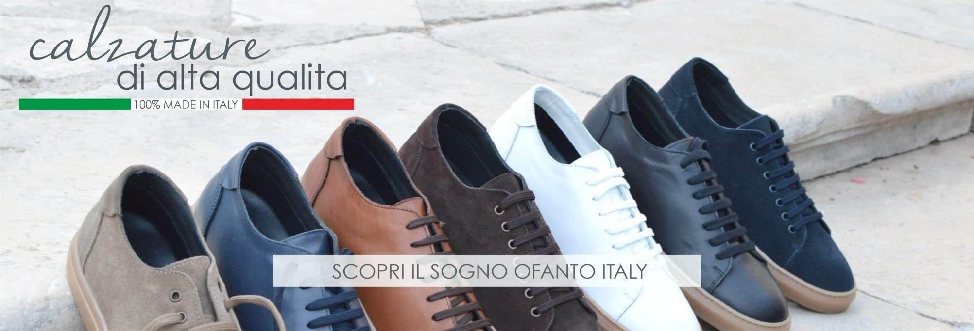 Made in Italy leather and rubber sneakers