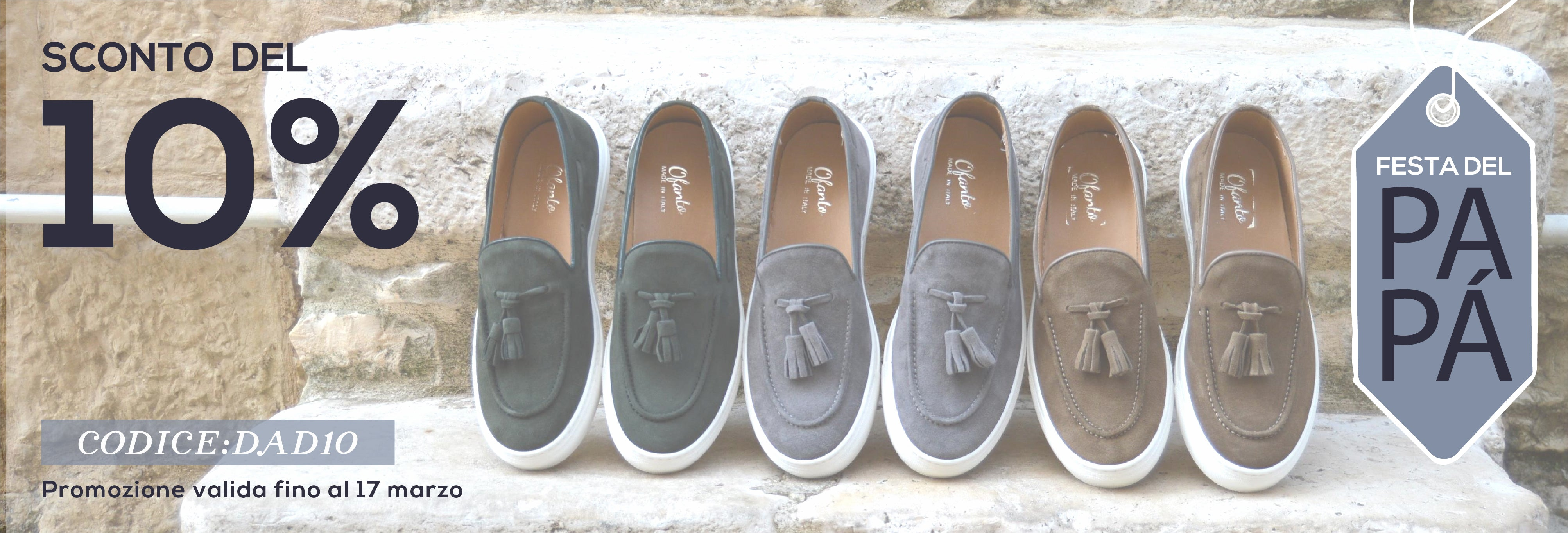 College slip-ons Vernazza, Made in Italy by Ofanto Italy