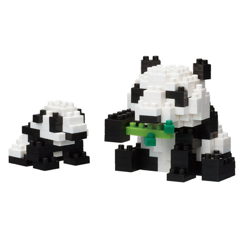 nanoblock mother & baby giant panda NBC 236