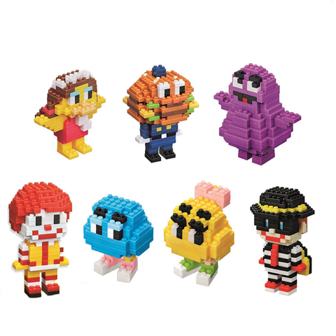 McDonald's x nanoblock Ronald & Friends Complete Set