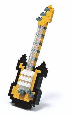 nanoblock Yellow Electric Guitar NBC 023