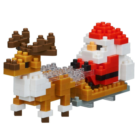 nanoblock Santa Claus with Reindeer 2017 NBC 234