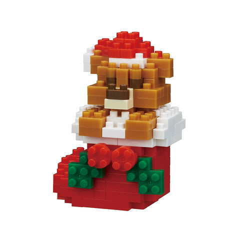 nanoblock Teddy Bear With Christmas Stocking 2017 NBC 235