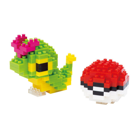nanoblock Caterpie & Poke Ball NBPM 010