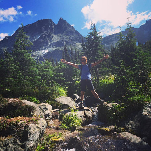 Jocelyn Lu hiking in Whistler
