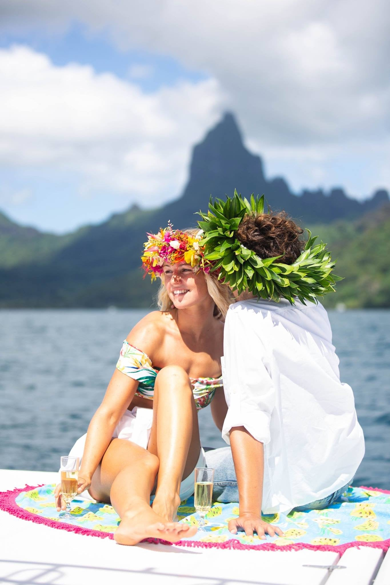 Luna and Clement Mermaid Private Boat Tours Moorea
