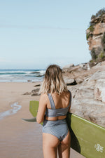 Load image into Gallery viewer, Salt Gypsy Luna Surf Crop Top Houndstooth Eco and Sustainable
