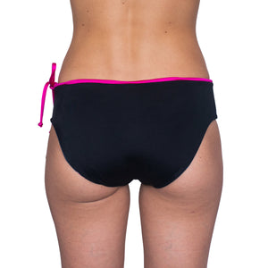 Zealous Clothing Radical Hipster Surfbikini Bottoms Pink Paradise Black