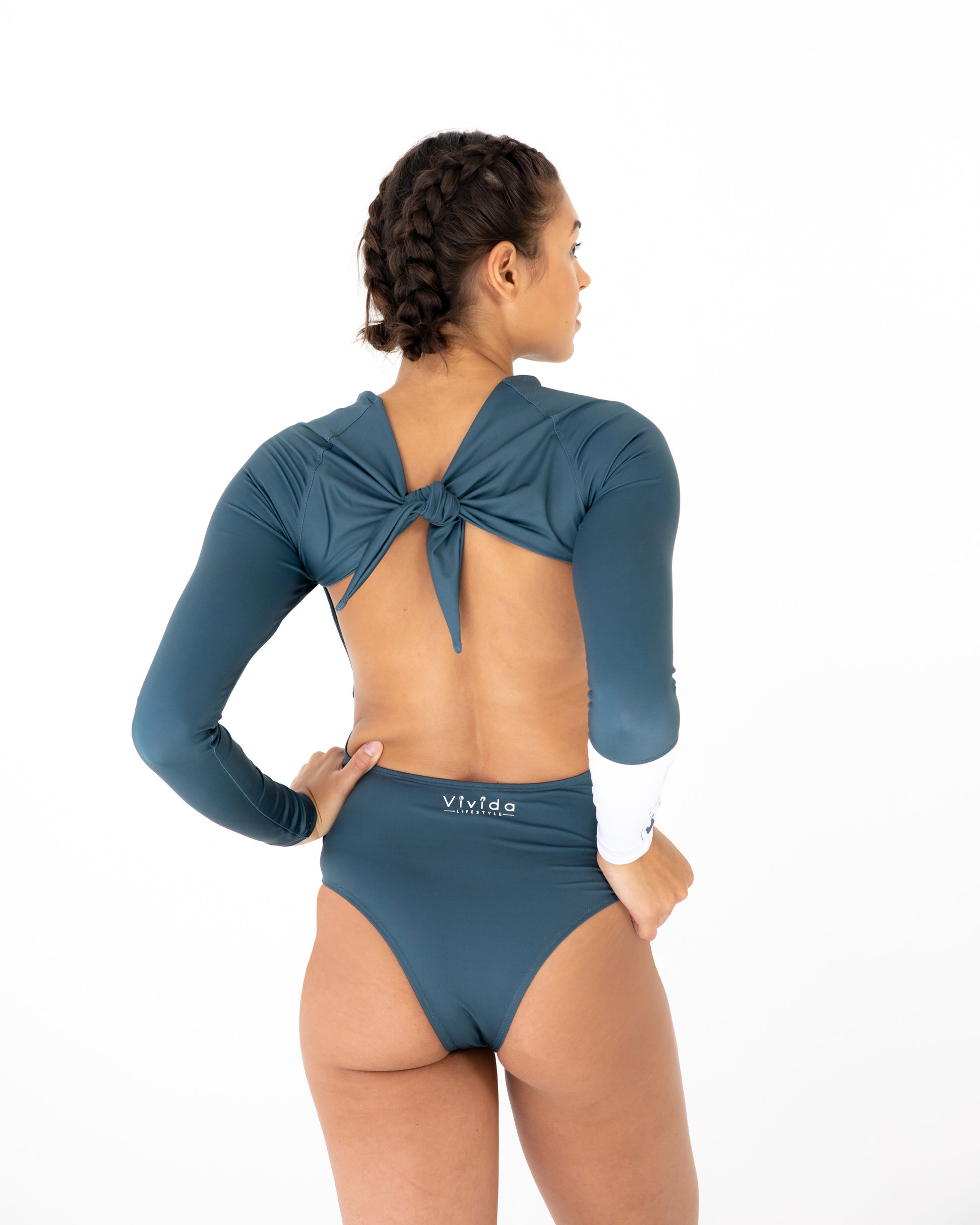 Vivida Lifestyle Water Warrior One Piece Surf Suit Stone Eco Seafoam