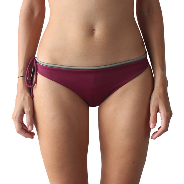 Zealous Clothing Signature Surfbikini Bottom Bordeaux Grey Gloss