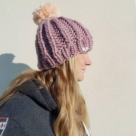 Seafoam Surf Custom Bobble Hat Peruvian Highland Wool Handmade in Wales