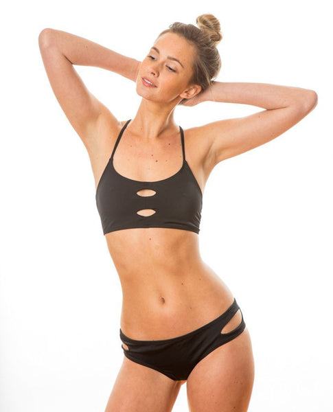 Sensi Graves Bikinis Emma Surf Bottoms black econyl
