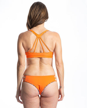 Sensi Graves Bikinis Colleen Surf Kitesurf Top Strappy Back Reversible Cabana Flame