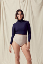 Load image into Gallery viewer, Salt Gypsy Uk EU Turtleneck Rashguard Dark Navy Econyl
