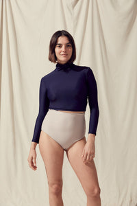 Salt Gypsy Uk EU Turtleneck Rashguard Dark Navy Econyl