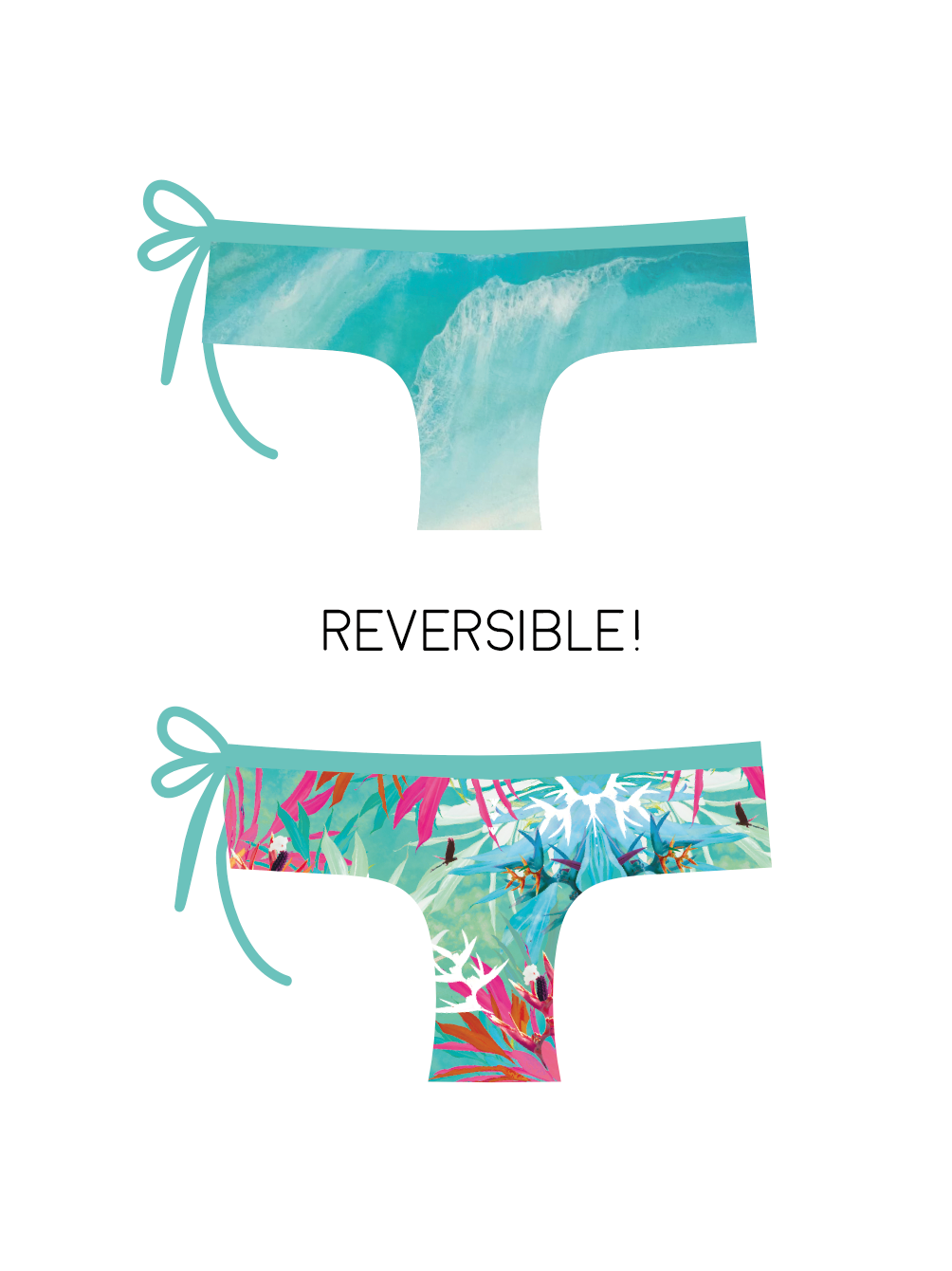 Monique Rotteveel Cheeky Surf Bikini Bottoms Ocean Flow Wild Flowers