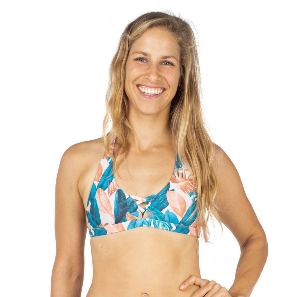 Zealous Clothing Strappy V Signature Surf Bikini Top Golden Hour Reversible