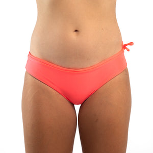 Zealous Clothing Matahari Surf bikini bottoms anthrazite fluro orange reversible