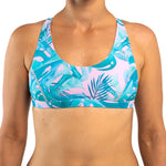 Zealous Clothing Mermazing Surf Bikini Top Monstera double triple layers G cup Reversible Pink Pastel