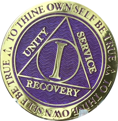 Reflex Purple Gold AA Medallions