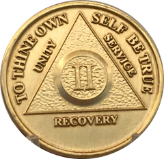 AA Medallions Years 1 - 65 Bronze Sobriety Chips