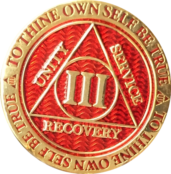 Red AA Medallions
