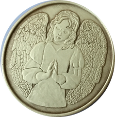 Guardian Angel Bronze Medallions and Keychains