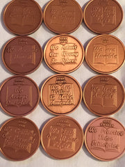 Copper AA Step Medallions & Chips