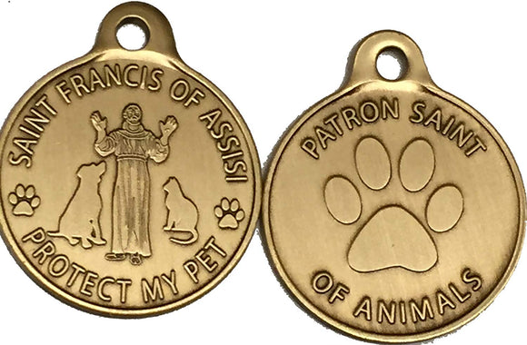 Saint Francis Dog Tags