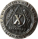 1 2 3 4 5 6 7 8 9 or 10 Year Gun Metal AA Medallion Reflex Design By Recoverychip.com - RecoveryChip