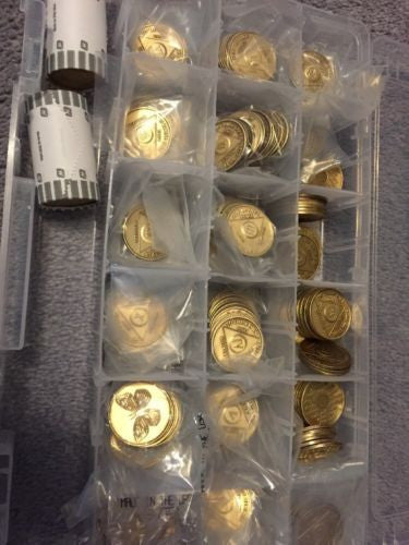 Lot Of 100 Bronze AA Medallions Alcoholics Anonymous Coins New - RecoveryChip