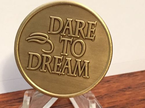 Dare To Dream Fear Is The Thief Bronze Medallion Chip Coin - RecoveryChip