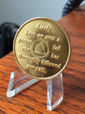 AA Founders Any Year 1 - 65 Medallion Titanium & Gold Plated Chip Bill W Dr Bob - RecoveryChip