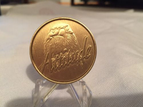 Attitude Progress Not Perfection Eagle Medallion Chip Coin Bronze - RecoveryChip
