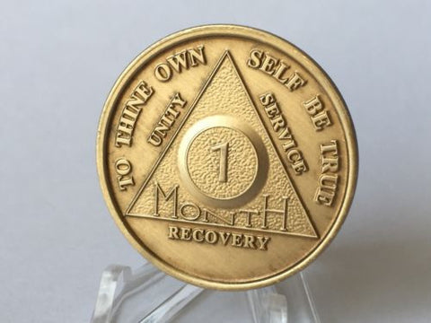 Lot Of 15 AA Alcoholics Anonymous Bronze Medallions Year 1 - 65 Months 1 - 11 - RecoveryChip
