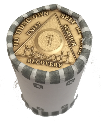 Bulk Wholesale Lot of 25 Bronze AA Medallions Month 1 - 11  or 18 Alcoholics Anonymous Sobriety Chips - RecoveryChip