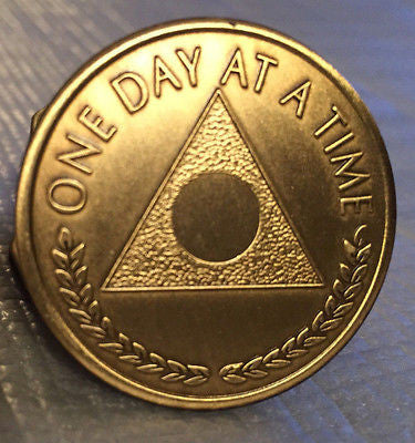 Al-Anon Bronze Recovery Medallion Coin Bronze Year 1 - 65 or Plain Center Alanon - RecoveryChip