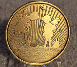 God May Give You Seeds But You Plant Them Children Garden Bronze Medallion Chip - RecoveryChip