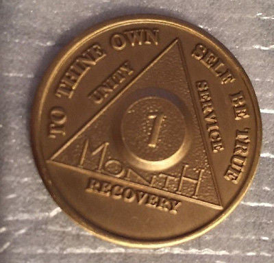 Set of 10 Alcoholics Anonymous 1 Month Recovery Coin Chip Medallion Token AA - RecoveryChip
