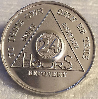 Bulk Lot Wholesale 100 Alcoholics Anonymous AA 24 Hours Desire Chip Medallion Aluminum Chips 24hrs - RecoveryChip