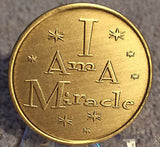 Butterfly I Am A Miracle Bronze Medallion Chip Sobriety Coin - RecoveryChip