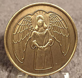 Guardian Angel - He Will Command Angels Medallion Chip Coin Bronze - RecoveryChip