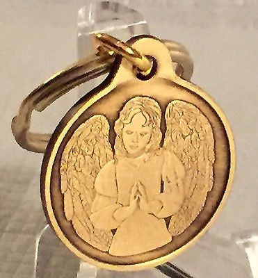 Guardian Angel Bronze Keychain Key Chain Charm An Angel To Be With You When I Cannot - RecoveryChip