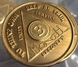Bulk Lot Wholesale 50 Bronze AA Recovery Medallion Coin Alcoholics Anonymous Any Month & Year NA - RecoveryChip
