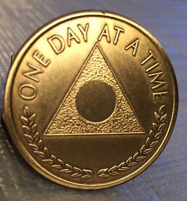 Lot of 10 Al-Anon Bronze Recovery Medallion Coin Bronze Plain Center Alanon - RecoveryChip