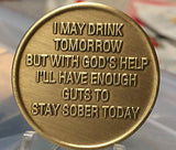 Bronze AA Coffee Pot Cup Medallion Alcoholics Anonymous Chip Sobriety Coin - RecoveryChip