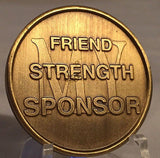 Premium Bronze AA NA Sponsor Thanks Medallion Alcoholics Anonymous Gift
