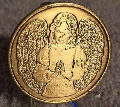 An Angel To Be With You When I Cannot Bronze Medallion Chip Coin - RecoveryChip