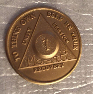 Set of 5 Alcoholics Anonymous 30 Day Recovery Coin Chip Medallion Token AA Days - RecoveryChip