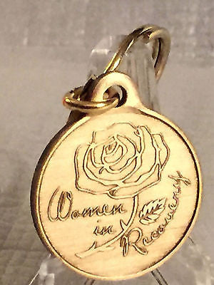 Women In Recovery Bronze Rose Serenity Prayer Key Chain Keychain Fob AA - RecoveryChip